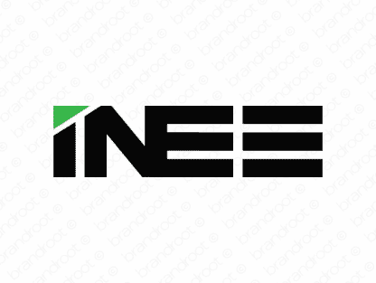 Inee logo design included with business name and domain name, Inee.com.