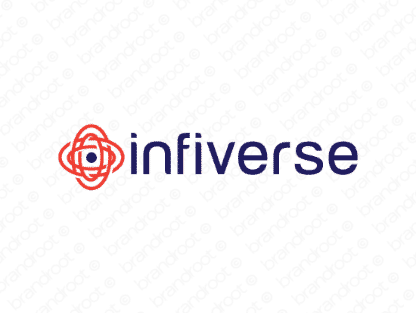 Infiverse logo design included with business name and domain name, Infiverse.com.