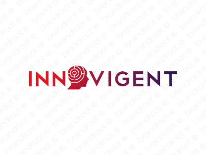 Innovigent logo design included with business name and domain name, Innovigent.com.