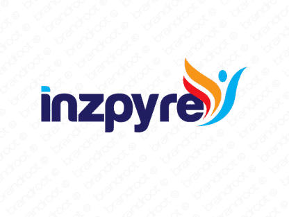 Inzpyre logo design included with business name and domain name, Inzpyre.com.