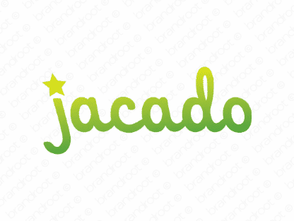 Jacado logo design included with business name and domain name, Jacado.com.