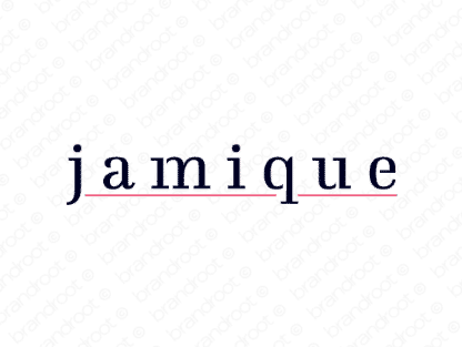 Jamique logo design included with business name and domain name, Jamique.com.