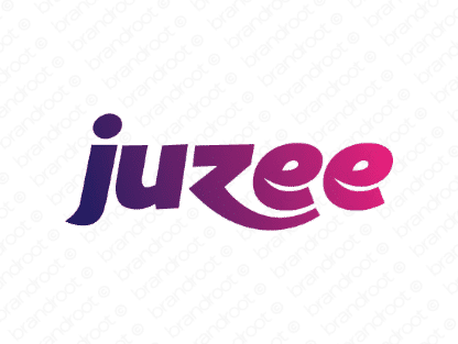 Juzee logo design included with business name and domain name, Juzee.com.