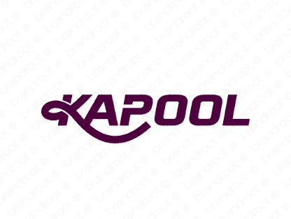 Kapool logo design included with business name and domain name, Kapool.com.
