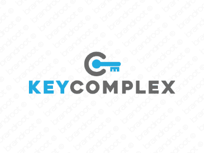 Keycomplex logo design included with business name and domain name, Keycomplex.com.