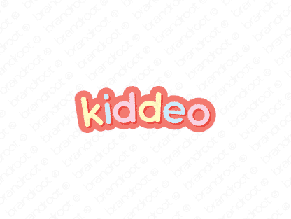 Kiddeo logo design included with business name and domain name, Kiddeo.com.
