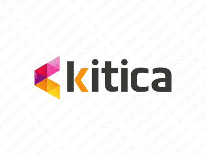 Kitica logo design included with business name and domain name, Kitica.com.
