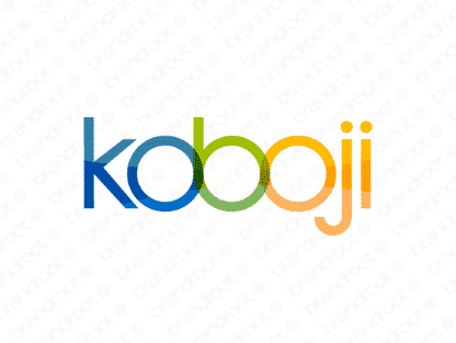 Koboji logo design included with business name and domain name, Koboji.com.