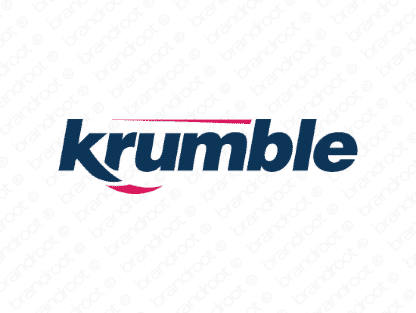Krumble logo design included with business name and domain name, Krumble.com.