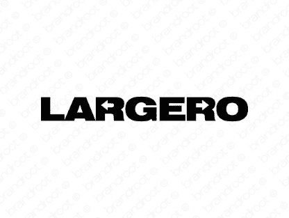 Largero logo design included with business name and domain name, Largero.com.