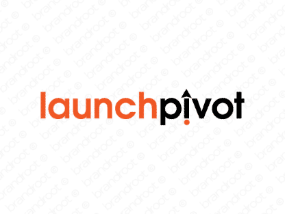 Launchpivot logo design included with business name and domain name, Launchpivot.com.
