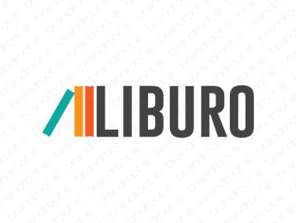 Liburo logo design included with business name and domain name, Liburo.com.