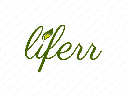 Liferr logo design included with business name and domain name, Liferr.com.