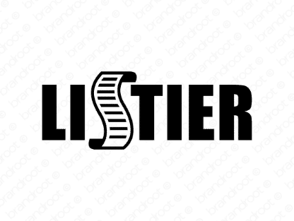Listier logo design included with business name and domain name, Listier.com.