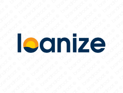 Loanize logo design included with business name and domain name, Loanize.com.