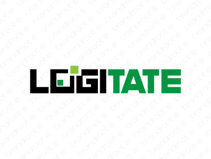 Logitate logo design included with business name and domain name, Logitate.com.