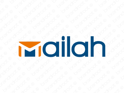 Mailah logo design included with business name and domain name, Mailah.com.