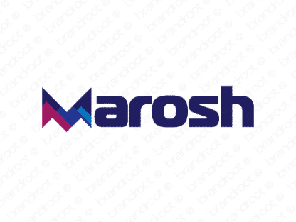 Marosh logo design included with business name and domain name, Marosh.com.