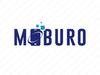 Moburo logo design included with business name and domain name, Moburo.com.