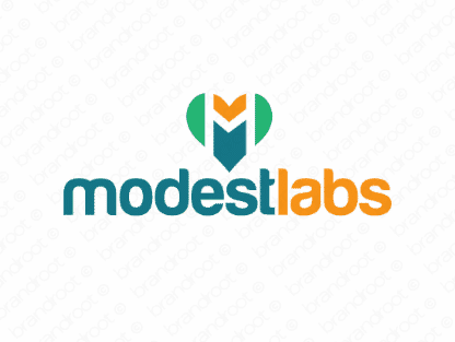 Modestlabs logo design included with business name and domain name, Modestlabs.com.
