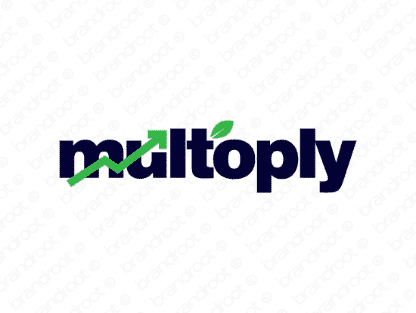 Multoply logo design included with business name and domain name, Multoply.com.