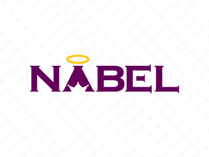 Nabel logo design included with business name and domain name, Nabel.com.
