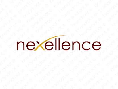 Nexellence logo design included with business name and domain name, Nexellence.com.