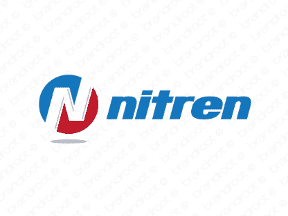 Nitren logo design included with business name and domain name, Nitren.com.