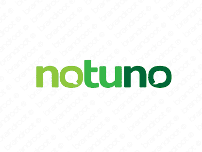 Notuno logo design included with business name and domain name, Notuno.com.
