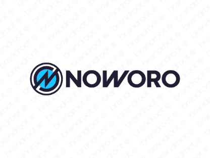 Noworo logo design included with business name and domain name, Noworo.com.