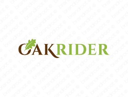 Oakrider logo design included with business name and domain name, Oakrider.com.