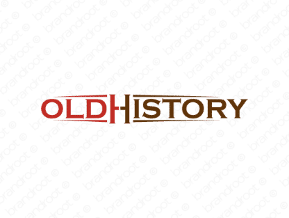 Oldhistory logo design included with business name and domain name, Oldhistory.com.