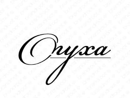 Onyxa logo design included with business name and domain name, Onyxa.com.