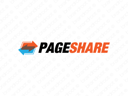 Pageshare logo design included with business name and domain name, Pageshare.com.