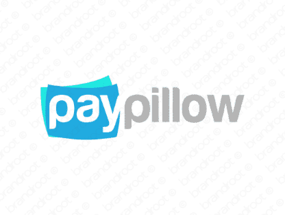 Paypillow logo design included with business name and domain name, Paypillow.com.
