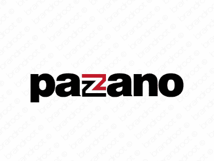 Pazano logo design included with business name and domain name, Pazano.com.