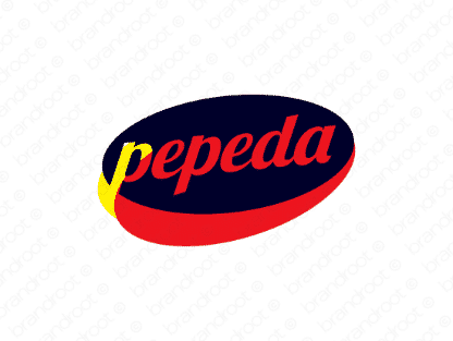 Pepeda logo design included with business name and domain name, Pepeda.com.