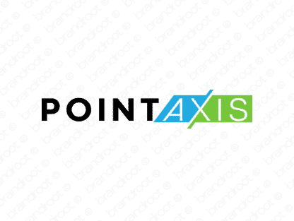 Pointaxis logo design included with business name and domain name, Pointaxis.com.