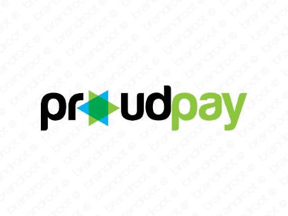 Proudpay logo design included with business name and domain name, Proudpay.com.
