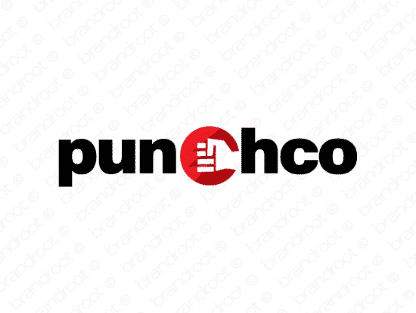 Punchco logo design included with business name and domain name, Punchco.com.