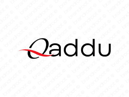 Qaddu logo design included with business name and domain name, Qaddu.com.