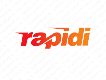 Rapidi logo design included with business name and domain name, Rapidi.com.