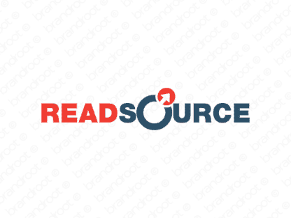 Readsource logo design included with business name and domain name, Readsource.com.