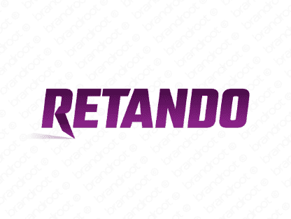 Retando logo design included with business name and domain name, Retando.com.