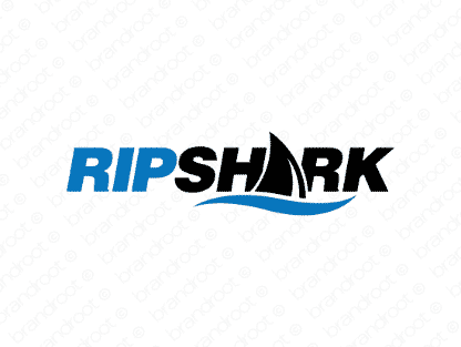 Ripshark logo design included with business name and domain name, Ripshark.com.