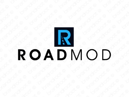 Roadmod logo design included with business name and domain name, Roadmod.com.