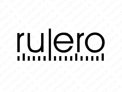 Rulero logo design included with business name and domain name, Rulero.com.