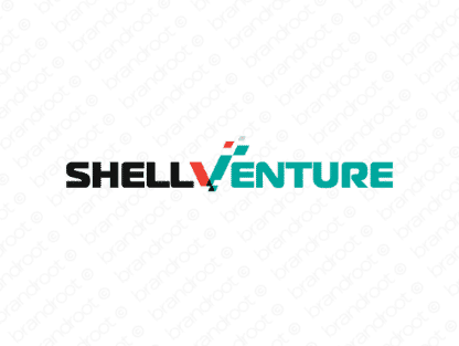 Shellventure logo design included with business name and domain name, Shellventure.com.