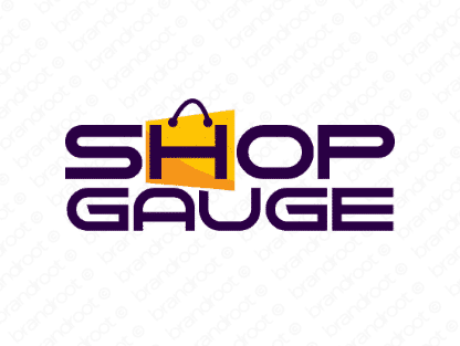 Shopgauge logo design included with business name and domain name, Shopgauge.com.