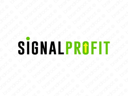 Signalprofit logo design included with business name and domain name, Signalprofit.com.
